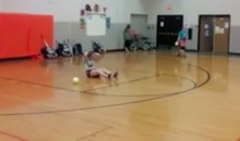 This Female Softball Pitcher Is a Deadly Weapon in Dodgeball Games (Video)