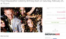 Oh, No! Tickets to Floyd Mayweather's 'Exclusive' Birthday Party Are Now Available on Groupon