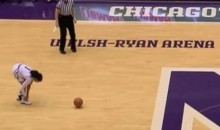 Female Basketball Player Ties Shoe While Bringing Ball Up Court, Pays for That Mistake (Video)