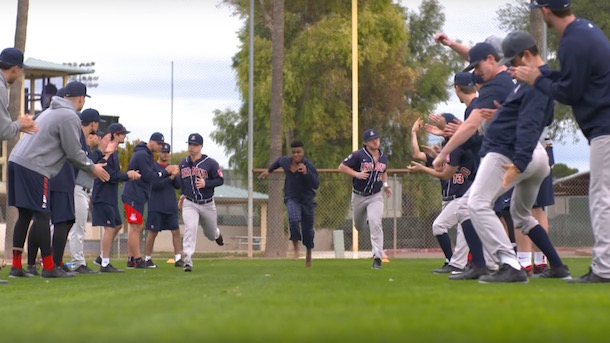 arizona wildcats baseball team recreates major league spring training scene 2