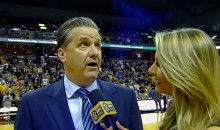Missouri Fans Taunt John Calipari, Cause Him to Storm Out On Halftime Interview (Video)