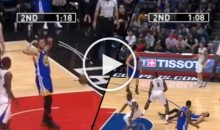 Steph Curry Flexes His Muscles, Then Gets Dropped By DeAndre Jordan (Video)