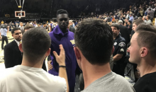 College Basketball Player Slaps Opposing Fans for Heckling Him During Game