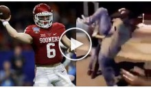 Supposed Footage Of QB Baker Mayfield Getting Body-Slammed By A Bouncer Emerges (Video)