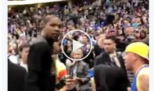 Kevin Durant Tells Nuggets Fan: 'We'll Sweep Your Ass' In The Playoffs (Video)