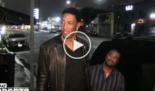 Scottie Pippen Gives Reporter a Death Stare After Asking Him 'Where's Future?' While on Date With His Wife (Video)