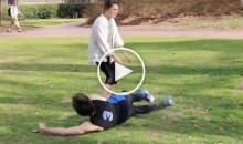 North Carolina Fan Gets Ready For Duke By Tripping Random People on Campus (Video)