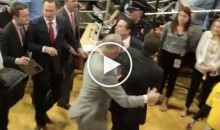Louisville's Rick Pitino Had To Be Held Back From a North Carolina Fan at Halftime (Video)