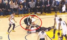 Draymond Green Appears To Try & Kick Blake Griffin During Game (Video)