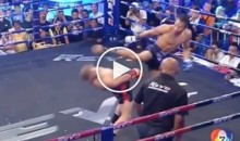 Kickboxer Uses Matrix-Like Move To Avoid Getting Kicked In The Head (Video)