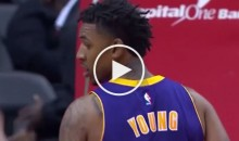 Nick Young Throws Up A Brick, Wizards DJ Proceeds to Play Some Iggy Azalea To Troll Him (Video)