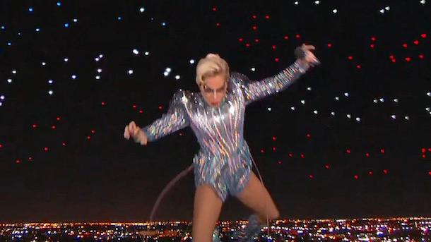 lady gaga super bowl halftime show leap