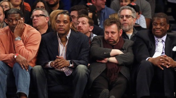 latrell spreewell james dolan knicks game