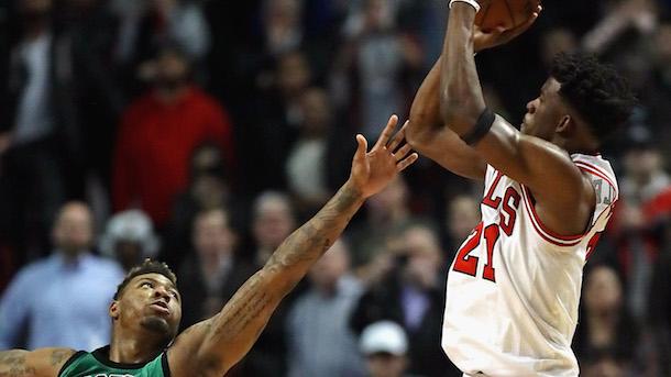 Marcus Smart Foul on Jimmy Butler Celtics Bulls