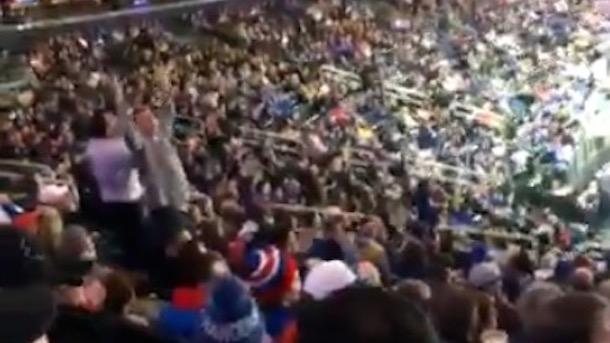 rangers fans chant charles oakley