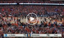Syracuse' John Gillon Banks in a 3-Pointer to Beat Duke at The Buzzer (Video)