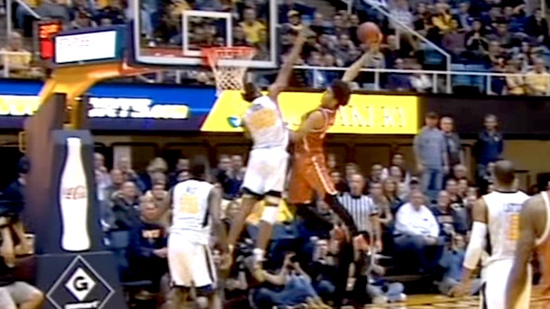texas jared allen dunk on west virginia posterized
