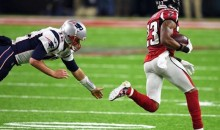 Tom Brady Captions Photos of Himself Giving Up Pick Six to Robert Alford in Super Bowl (Pics)