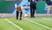 Detroit Lions Reporter Tori Petry Ran a 5:98 40 at the NFL Combine…While Wearing Heels (Video)