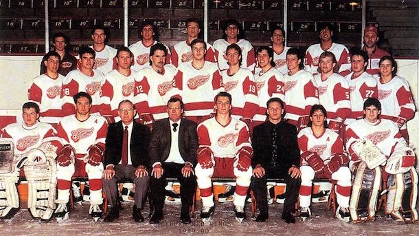 The 1989-90 Detroit Red Wings, the last team from Motor city to miss the playoffs.