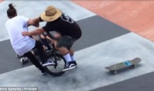 Dad Tackles BMX Rider at Skate Park After Minor Collision with His Son (Video)