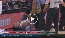 Just Minutes Into Debut With Cavs & Andrew Bogut is Already Injured (Video)