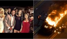 Mayweather's Van Burned By Guys Upset Their GFs Left Them to Hang With Him in VIP