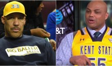 Barkley Wears Kent State Jersey & Wants UCLA to Lose Because of LaVar Ball (Video)