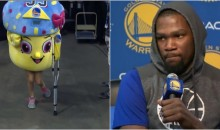 OKC Thunder Fans Are Now Trolling Kevin Durant's Injury With a Cupcake on Crutches (VIDEO)