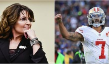 Sarah Palin Says Kaepernick Giving Money to Feed Elderly, Homeless & Starving People is a Political Stunt