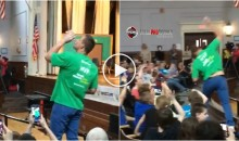 Elementary Students Chant 'Chug It' To Rob Gronkowski During Event; He Chugs It, Then Spikes It (Video)