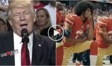 Donald Trump Takes Shot at Colin Kaepernick For Not Standing For National Anthem (VIDEO)