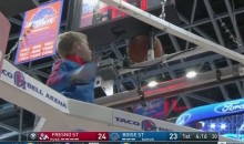 Young Child Saves the Day, Retrieves Trapped Ball During Fresno-Boise Game (Video)