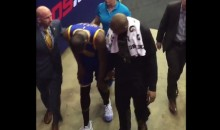 Kevin Durant Hyperextends Knee, Limps Off Court, Undergoes MRI (Videos)