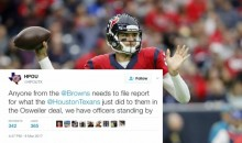 Houston Police Union Trolls Cleveland Browns After Osweiler Trade (TWEETS)