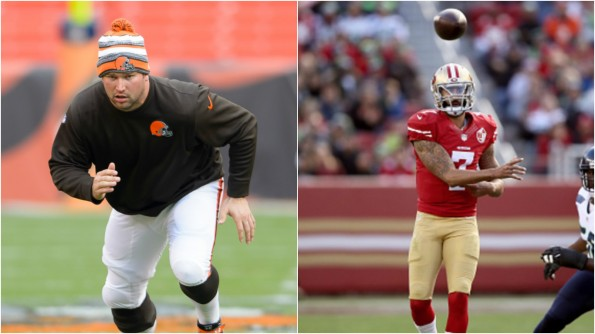 Joe Thomas Colin Kaepernick