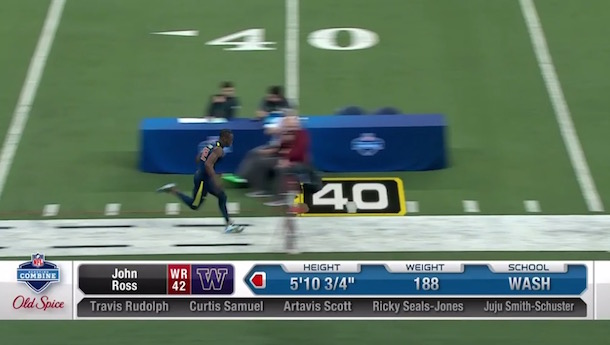 Washington WR John Ross Breaks Combine Record With 4.22 40-Yard Dash