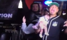 LIT Raiders Fan Celebrates Move To Las Vegas In a Bar…WITH HIS NEWBORN BABY!!! (Video)