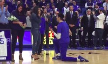 Kentucky's Derek Willis Proposes to His GF On-Court Before Senior Night Game (Video)