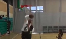 Youth Basketball Coach Runs Onto Court, Rejects His Own Player  (Video)