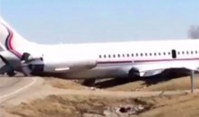 Michigan Basketball Team Plane Slides Off The Runway (Pics + Vid)