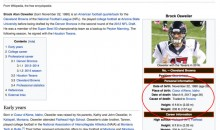 Somebody Updated Brock Osweiler's Wikipedia Page After Getting Traded To The Browns (PIC)