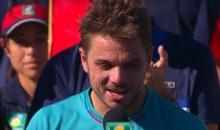 Stan Wawrinka Calls Federer an 'A-Hole' During Post-Finals Interview (Video)