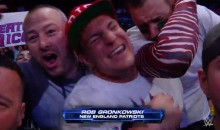 Gronk Got VERY Excited On-Camera at WWE Smackdown Last Night (Video)