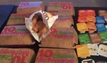 Cavs Fans Play 'Game' Where They Have to Eat More Chicken Nuggets Than Denver Nuggets Points…GROSS!!!