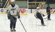Justin Bieber Suited Up and Played Hockey with the West Point Squad (Video)