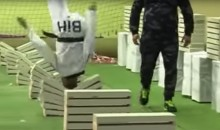 Black Belt Taekwando Stud Sets Record For Breaking Bricks with His Head (Video)