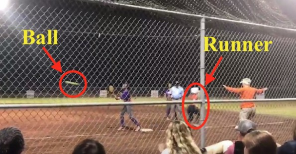 Umpire blown call