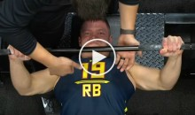 Watch Stanford's Christian McCaffrey Struggle To Do 10 Bench Press Reps At NFL Combine (Video)