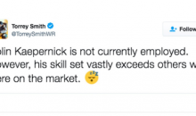 Torrey Smith: 'Colin Kaepernick is Better Than Some QB's With Jobs'